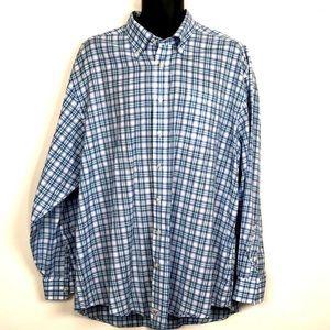 Vineyard VInes Mens Murray Shirt blue plaid XL